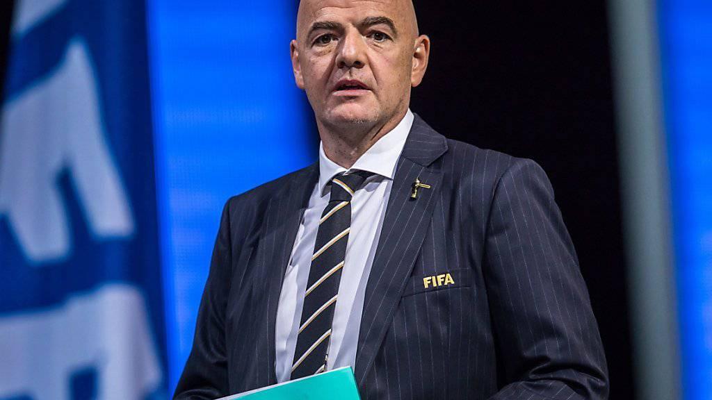 Wurde Anfang Juni in seinem Amt bestätigt: FIFA-Präsident Gianni Infantino