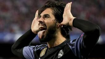 Schoss Real Madrids wichtigen Anschlusstreffer zum 1:2 gegen Atletico: Mittelfeldspieler Isco