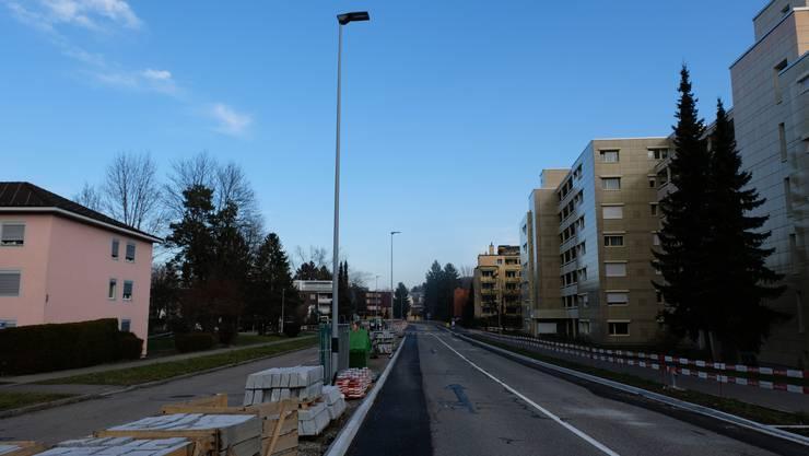 Freie Fahrt auf zwei Spuren: So zeigte sich die Feldstrasse gestern Nachmittag.