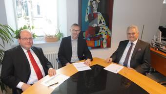 (v.l.) Alexander Bigler, Thomas Hunziker und Franz Koch sind zufrieden.