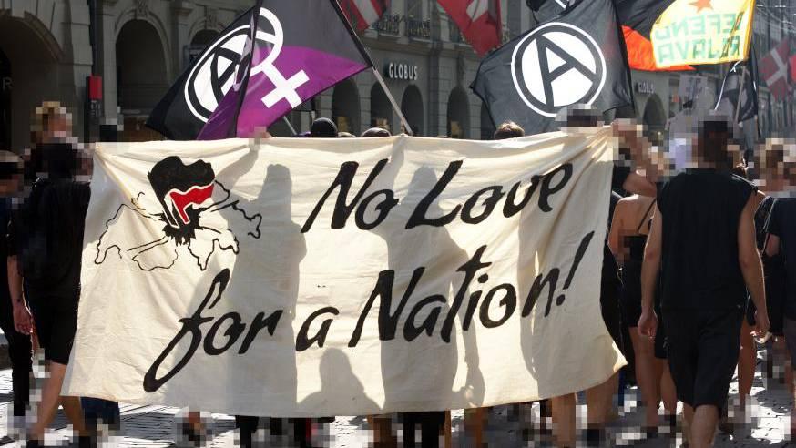 Gummischrot bei unbewilligter Demo «gegen Mythos Schweiz»