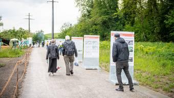 Über die Uferpark-Promenade führt neu auch die nationale Veloroute 5/8.