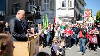 1.Mai Umzug und Reden in Solothurn