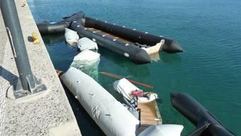 Ein Erinnerungsbild des Dietiker Flüchtlingshelfers Fabian Hauser: Solche Schlepperboote fahren völlig überfüllt Nacht für Nacht von Bodrum nach Kos. zvg