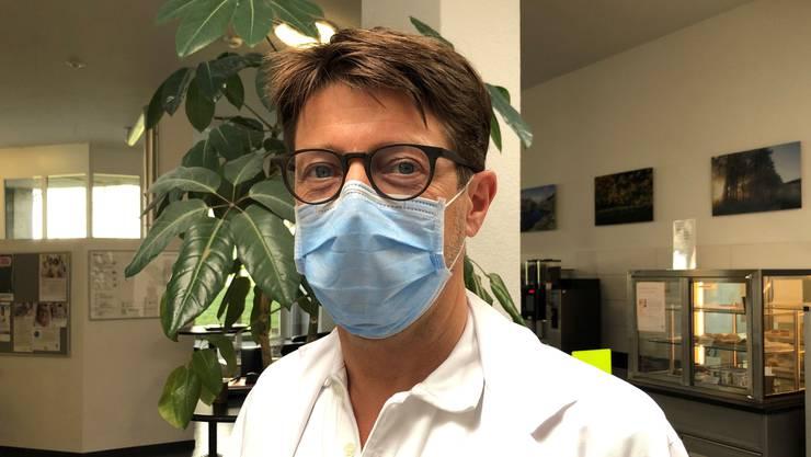 Markus Schwendinger: «Überrascht hat mich, wie schnell sich der Gesundheitszustand der Covid-Patienten verschlechtern kann.»