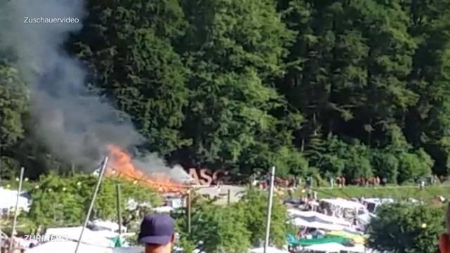 Brand am Openair St. Gallen: Feuerwehr unterbindet Schlimmeres