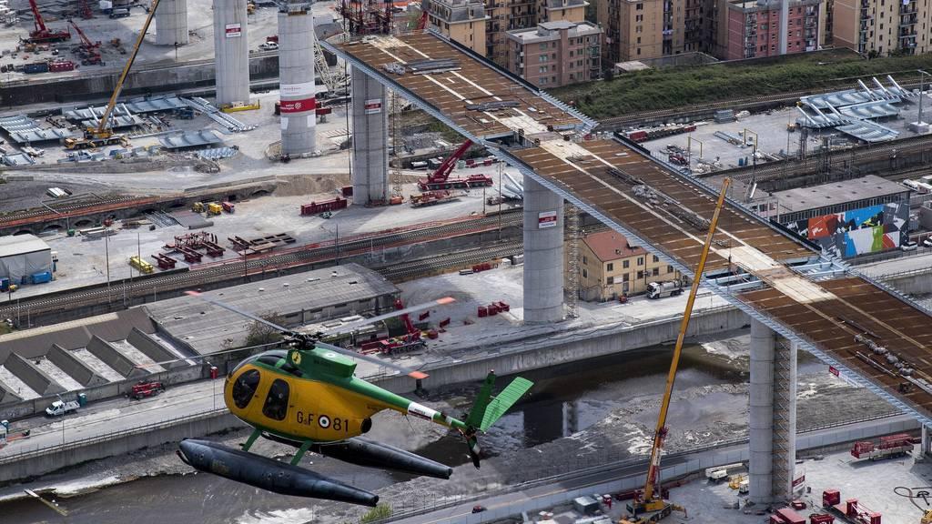 Meilenstein bei Bau von neuer Genua-Brücke: Struktur wird fertig