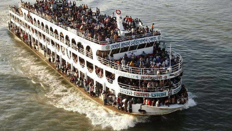 Eine Fähre in Bangladesch. (Symbolbild)