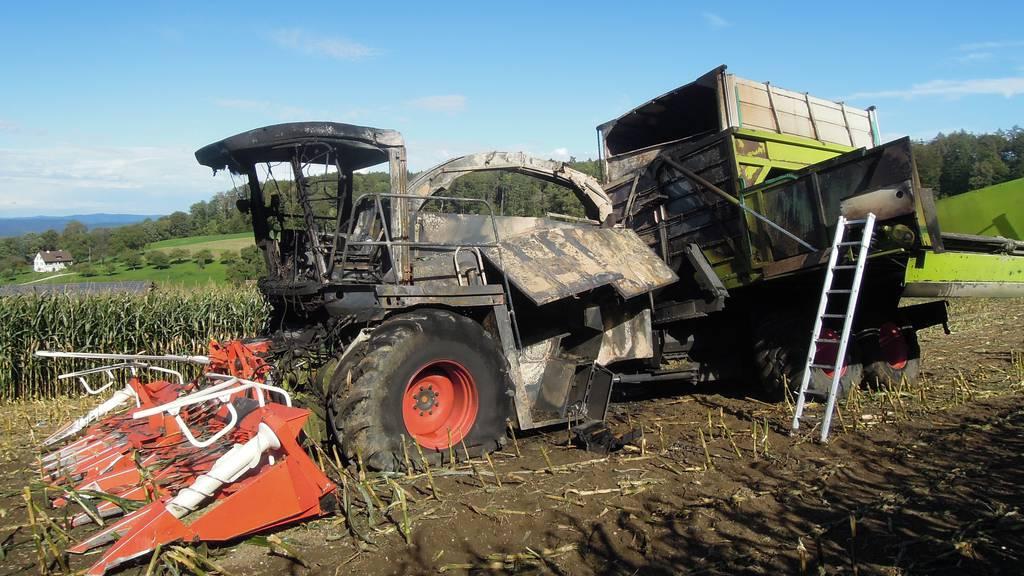 Maishäcksler brennt – Viertelmillion Franken Schaden