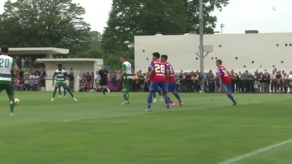 Testspiel gegen Basel