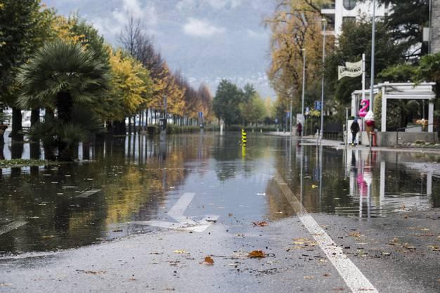 Überschwemmungen in Locarno.