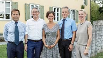 Bundeskanzler Walter Thurnherr, Urs Hofmann, Pascale Bruderer, ZDA-Direktor Daniel Kübler und Katja Gentinetta.