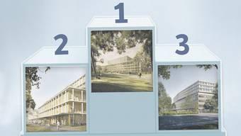 Die drei KSA-Neubau-Projekte.