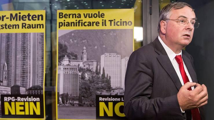 Jean-François Rime und sein Gewerbeverband haben in der Abstimmungskampagne einen schweren Stand.Key