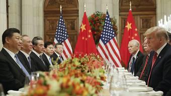 US-Präsident Donald Trump und Chinas Präsident Xi Jinping hatten unlängst bei ihrem Treffen in Buenos Aires neuen Schwung in die Verhandlungen beim Handelsstreit gebracht. (Archivbild)