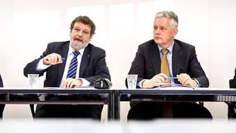 Was hat es Finanzdirektor Roland Heim (l.) gekostet, sich von seinem Chefbeamten Marcel Gehrig zu trennen?