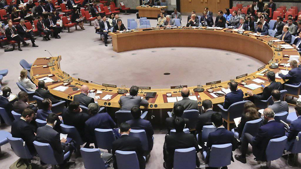 Am Montag trifft sich der UNO-Sicherheitsrat erneut und berät über neue Sanktionen gegen Nordkorea. (Archivbild)