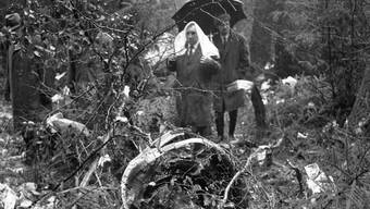 Würenlingen 1970: Eine Coronado der Swissair ist abgestürzt, 47 Menschen sind tot. Ursache: Eine Paketbombe im Frachtraum. Man kennt den Aufgeber. Belangt wurde er nie.KEYSTONE/Str