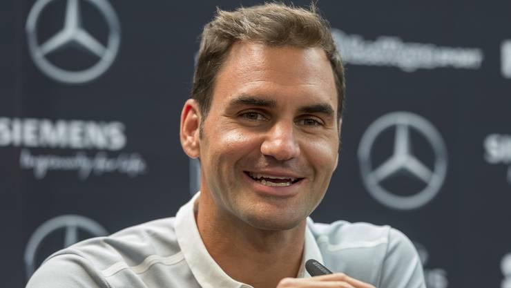Federers neue Frisur gibt zu reden. Er nimmt es pragmatisch.