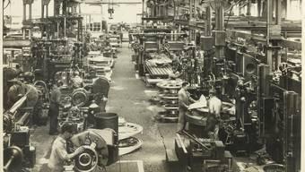 Die Aargauer Industrie (im Bild die Halle II der Brown Boveri in Baden im Jahr 1926) hat die Entwicklung des Kantons in den letzten 200 Jahren wesentlich geprägt und Wohlstand ermöglicht.