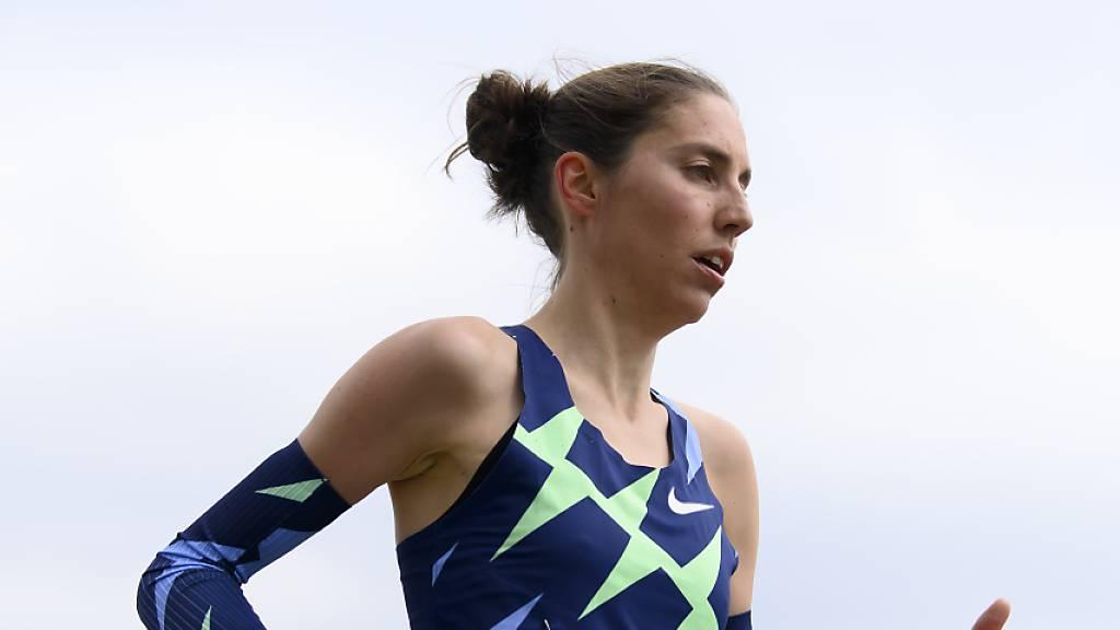 Fabienne Schlumpf knapp über ihrem Schweizer Rekord