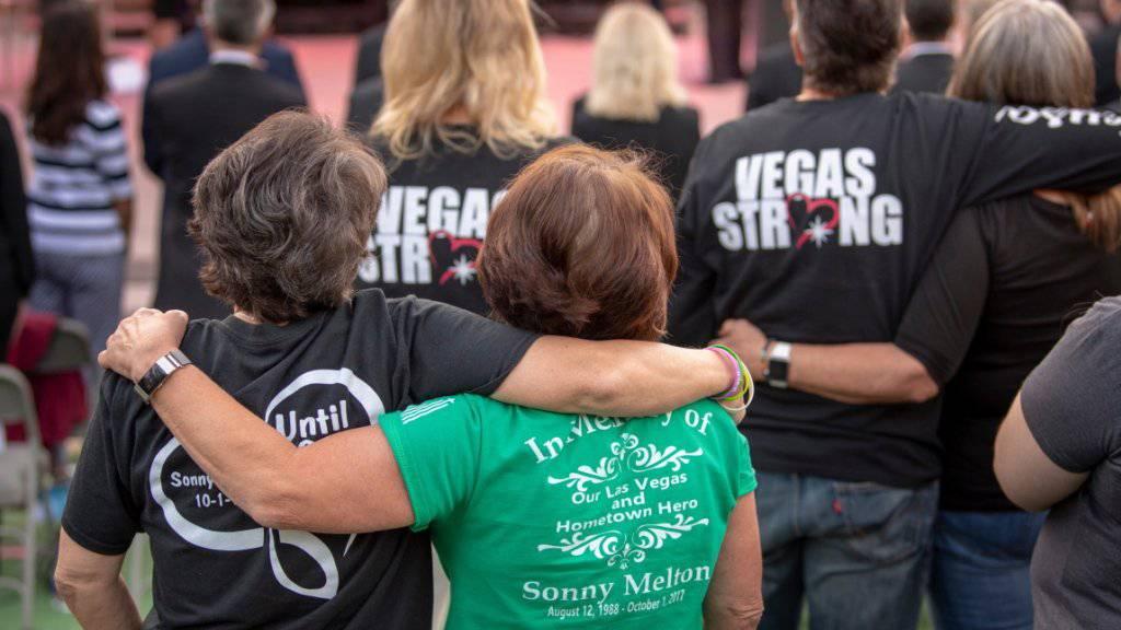 Gedenken an Massakers von Las Vegas