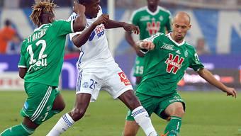 Nicht zu stoppen: Marseilles 1:0-Torschütze Imbula (mitte)