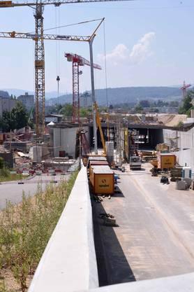 H2-Baustelle beim Abschnitt Schöntal