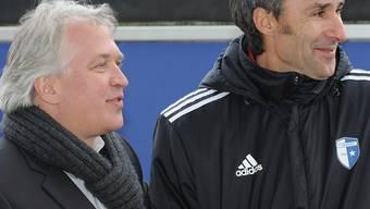 Präsident Andy Wyder (links) und Trainer Ryszard Komornicki