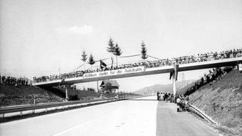 Als die Autobahn vor 50 Jahren eröffnet wurde, feierten die Kölliker und sie waren begeistert und dankbar.