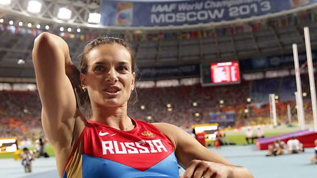 Jelena Isinbajewa holte am Dienstag WM-Gold