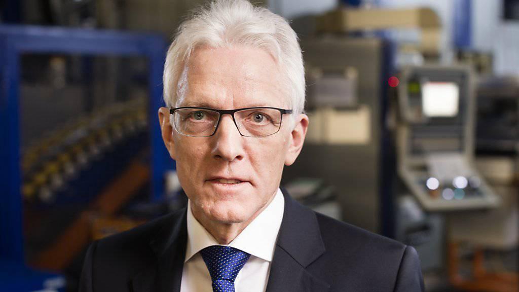 Feintool-Chef Heinz Loosli tritt Anfang September altersbedingt zurück. (Archivbild)