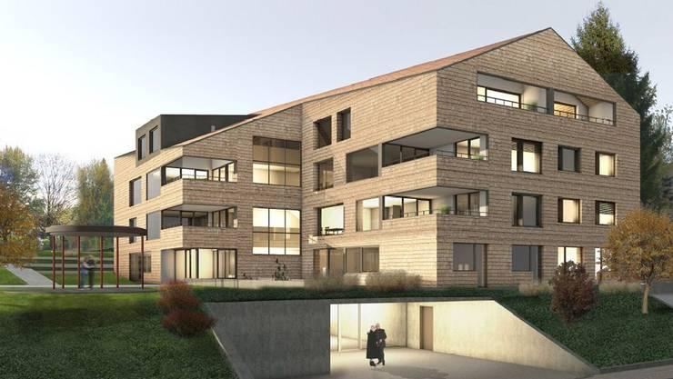 Die Visualisierung zeigt das Siegerprojekt der a4D Architekten AG aus Muri. zvg
