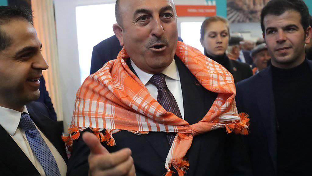 Der türkische Aussenminister Mevlüt Cavusoglu will in der Schweiz auftreten. Sein Besuch wäre gemäss EDA keine Bedrohungslage. (Archiv)