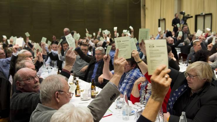SVP-Kantonalparteitag für die Nomination der Nationalratskandidaten im Tägi in Wettingen.