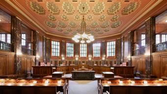Der grosse Saal des Bundesgerichts in Lausanne.