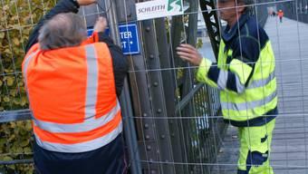 Der Eisensteg in Rheinfelden wird abgesperrt