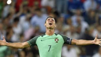 Cristiano Ronaldo könnte mit dem Sieg im EM-Final am Sonntag in Paris seine Karriere krönen
