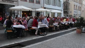 «Stadtstubete» 2013 in der Altstadt Aarau
