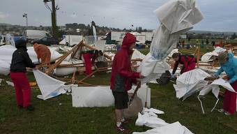 Heftige Sturmwinde hinterliessen beim Turnfest ein Bild der Zerstörung. (Archiv)