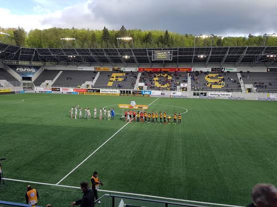 Die Spieler sind bereit in Schaffhausen.