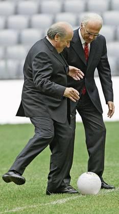 Sepp Blatter und Franz Beckenbauer vor der WM.