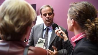 CVP-Präsident Gerhard Pfister verteidigt die Kampagne der Partei an einem Hintergrundgespräch.