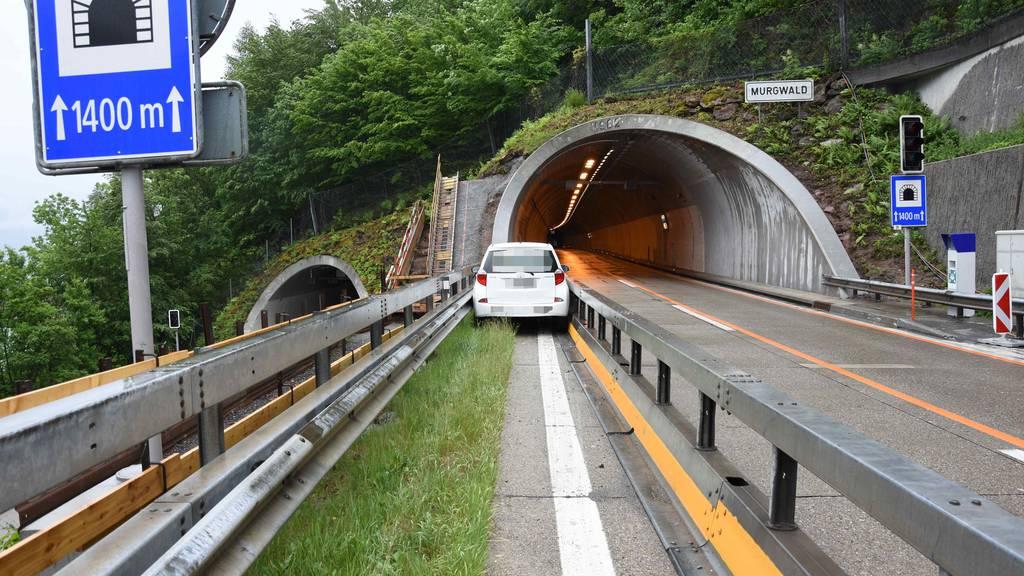 Falsche Fahrspur auf der Autobahn erwischt
