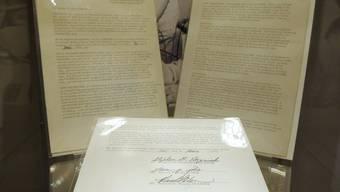 Dokumente, die für 1,35 Millionen Dollar ersteigert wurden