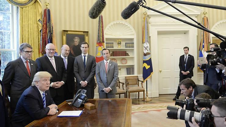 Versucht seit Jahren, kritische Medien schlecht zu reden: US-Präsident Donald Trump. (Archivbild)