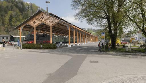 So soll die Bahnhofhalle in Bauma einmal aussehen.
