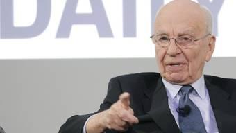 Medien-Mogul Murdoch bei der Vorstellung der digitalen Tablet-Zeitung im Februar 2011 (Archiv)