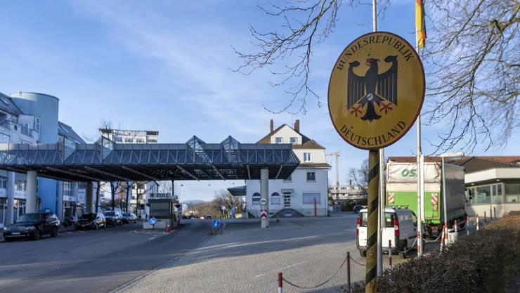 Der Grenzübergang in Lörrach.