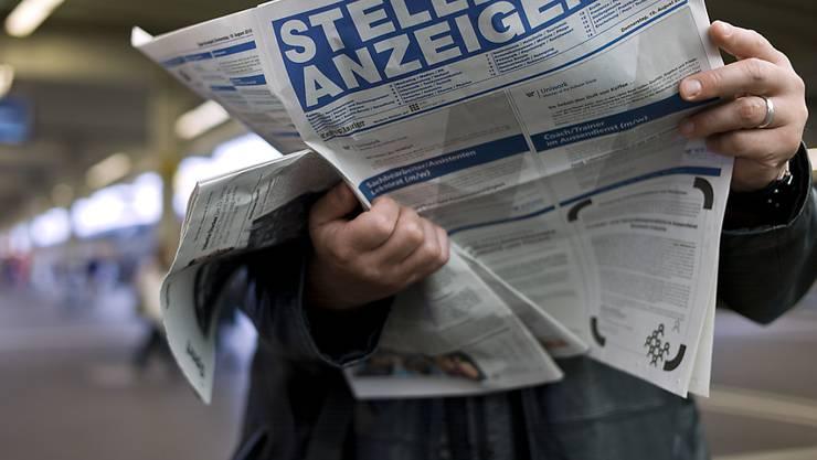 So viele Erwerbslose wie im ersten Quartal gab es in der Schweiz letztmals vor sechs Jahren.